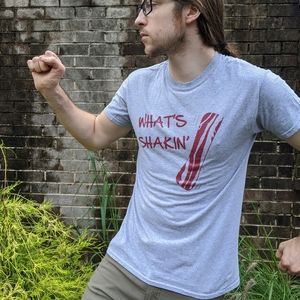 Temple Heather Gray What's Shakin' Bacon Shirt